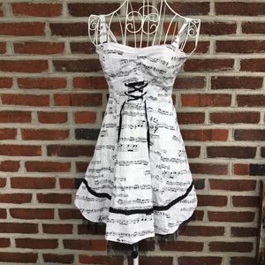 Hot topic music note gothy babydoll dress